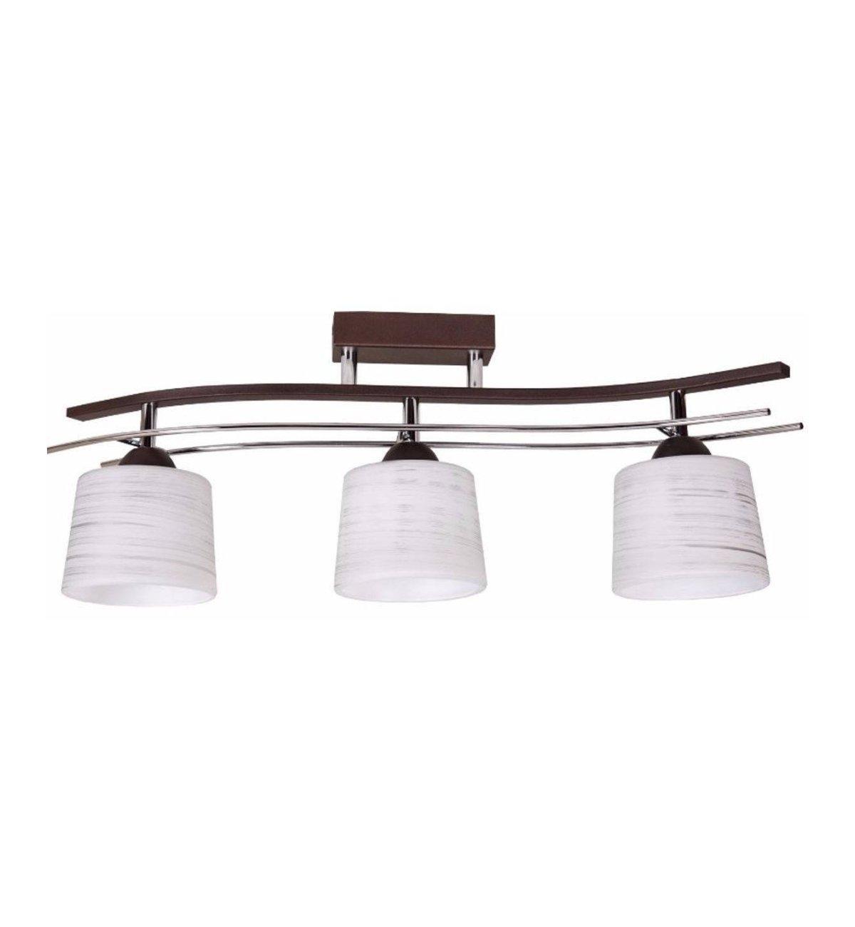 Lampa Sufitowa z chromowanymi Elementami Szklane Klosze Sklep internetowy Light Home