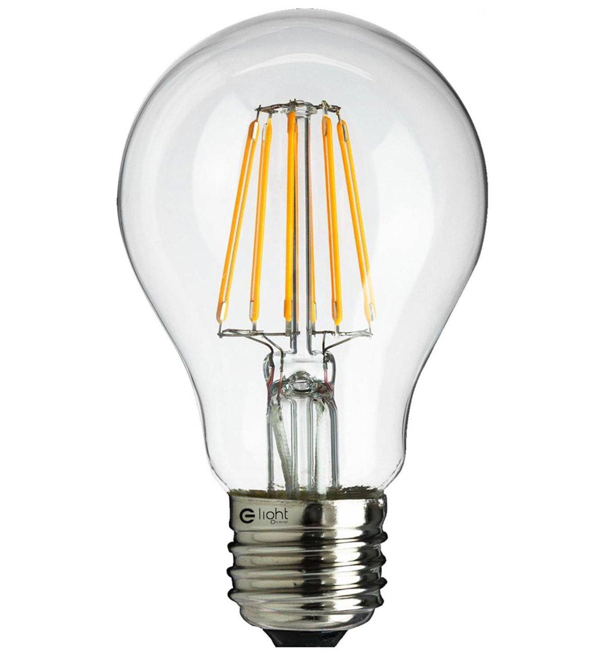 Super Żarówka LED Filament A60 E27 Ciepła 6W 48W - Sklep internetowy FB81