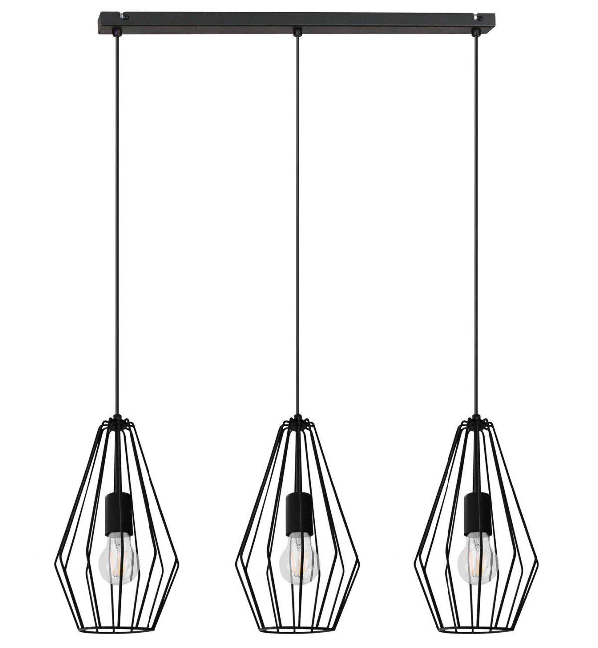 Nowoczesna Lampa Wisząca Loft Diament Metal Dwa Kolory Sklep internetowy Light Home