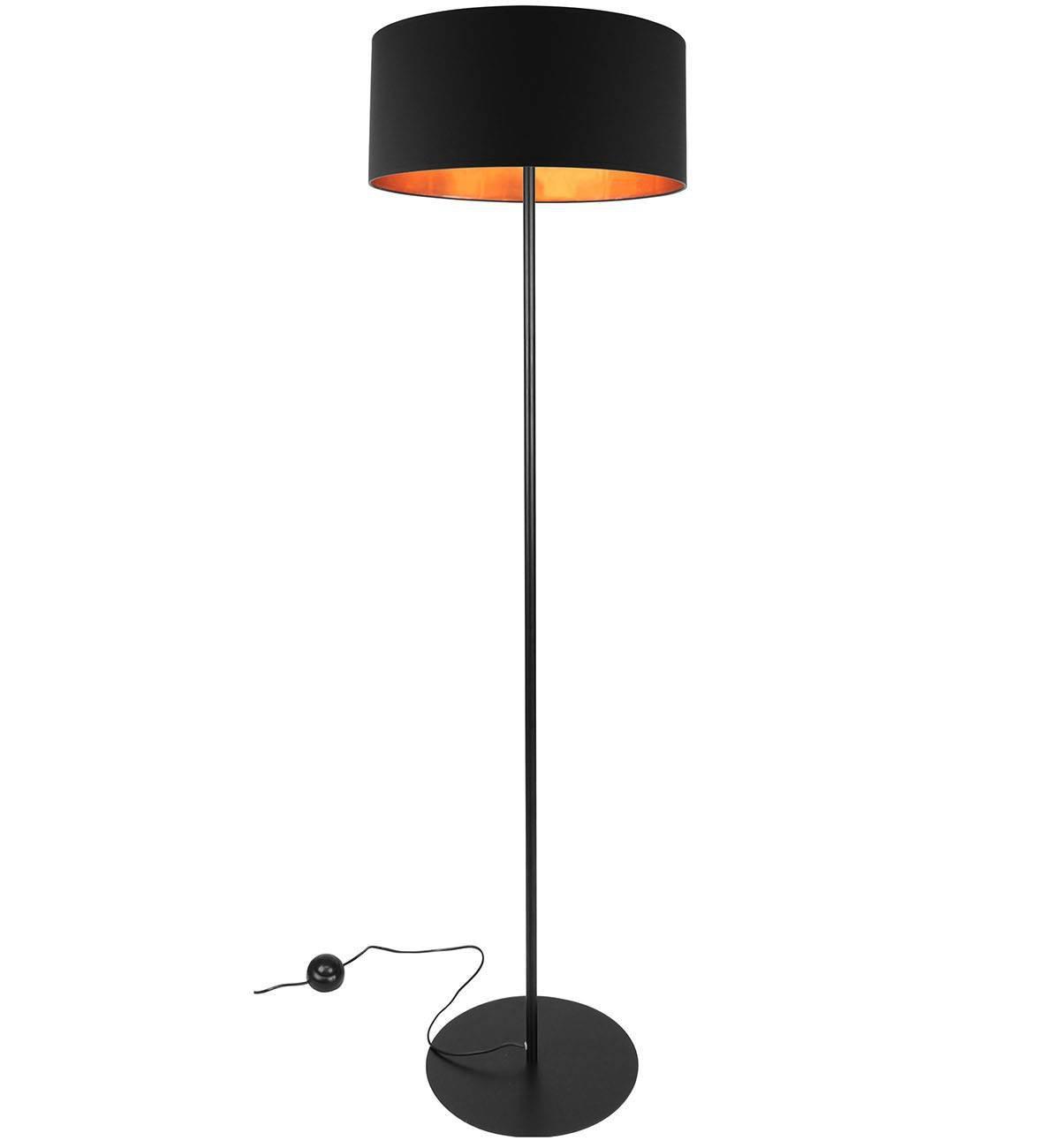 lampy stojące z okrągłym abazurem