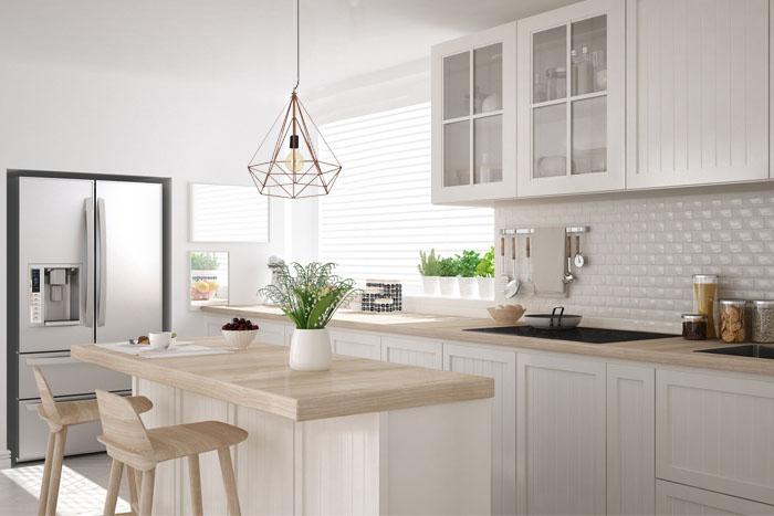 lampy do kuchni wiszące w kuchni stylowej