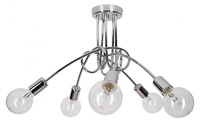 Lampa chromowana wisząca edison loft chrom