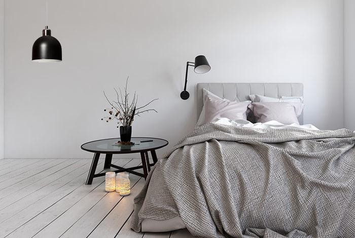 Stylowa sypialnia lampa wisząca metalowa