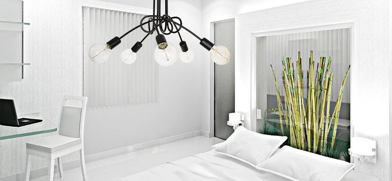 Sypialnia w stylu insudtrialnym