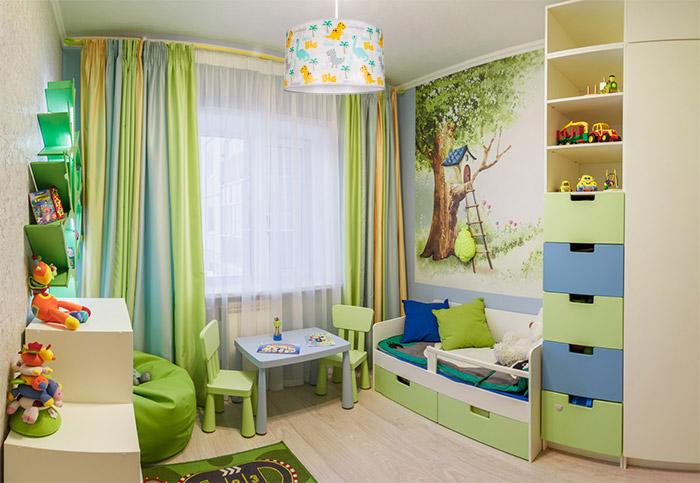 Pokój dziecka z lampą wiszącą dziecięcą