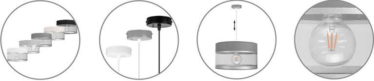 Wyjątkowa lampa wisząca regulacja wysokości różne kolory
